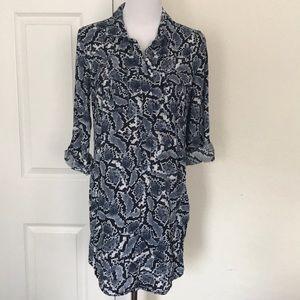 NWOT Banana Republic Blue Shirt Dress
